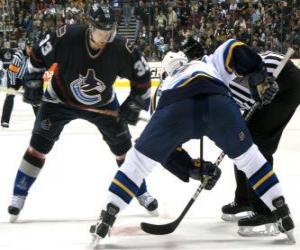 Układanka Gracze w hokeju na lodzie mecz