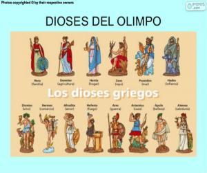 Układanka Greccy bogowie