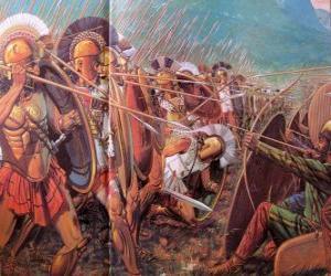 Układanka Grecki żołnierzy