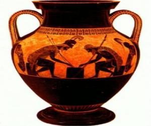 Układanka Grecki amfora dekorowana