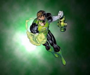 Układanka Green Lantern, superbohater ma pierścień mocy, która jest jedną z najpotężniejszych broni w kosmosie