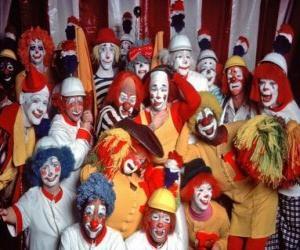 Układanka Grupa klaunów