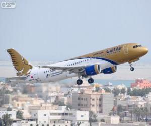 Układanka Gulf Air, narodowe linie lotnicze z Królestwo Bahrajnu