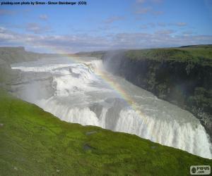 Układanka Gullfoss, Islandia