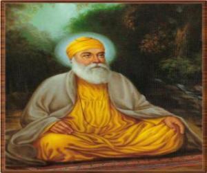Układanka Guru Nanak Czand, założyciel Sikhizm