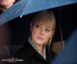 Układanka Gwen Stacy na pogrzebie jego ojciec