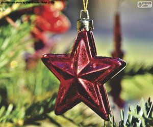 Układanka Gwiazda świąteczna