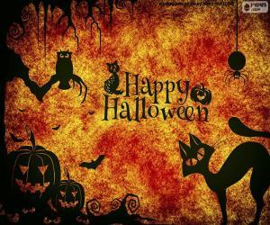 Układanka Halloween dzień