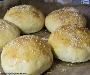 Układanka Hamburger chleb