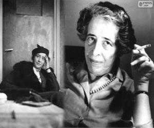 Układanka Hannah Arendt, niemiecka-amerykański politolog