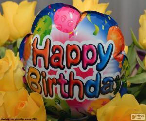 Układanka Happy Birthday balon