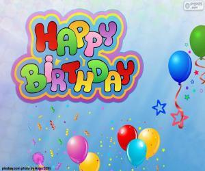 Układanka Happy Birthday z okazji urodzin