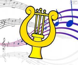 Układanka Harfa, rysunek