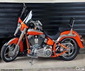 Układanka Harley Davidson pomarańczowy
