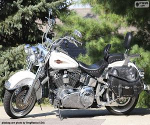 Układanka Harley-Davison Biały