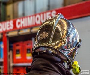 Układanka Hełm strażaka chrom