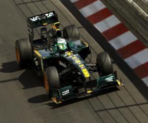 Układanka Heikki Kovalainen - Lotus - Monte-Carlo 2010