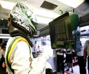 Układanka Heikki Kovalainen - Lotus - Sepang 2010