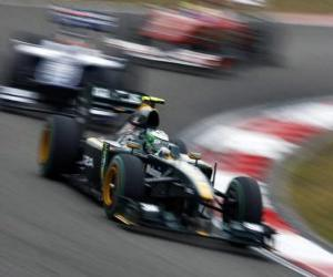Układanka Heikki Kovalainen - Lotus - Szanghaj 2010