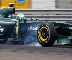 Układanka Heikki Kovalainen - Lotus - Stambuł 2010