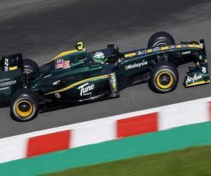 Układanka Heikki Kovalainen - Lotus - Spa-Francorchamps 2010