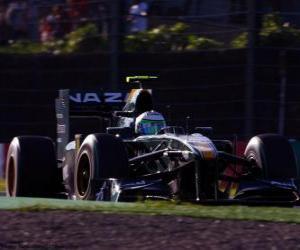 Układanka Heikki Kovalainen - Lotus - Suzuka 2010