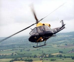 Układanka Helikopter w akcji