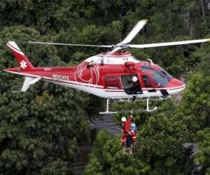 Układanka Helikopter wybawiać lub Śmigłowiec ratować