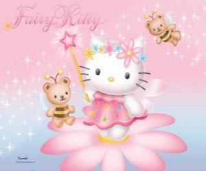 Układanka Hello Kitty, bajki ogród