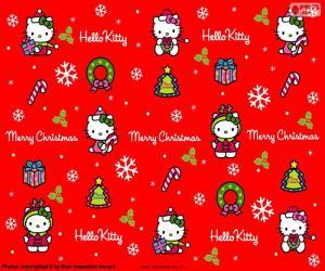 Układanka Hello Kitty Boże Narodzenie