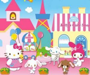 Układanka Hello Kitty i jej przyjaciół dniu spędzonym w cieście