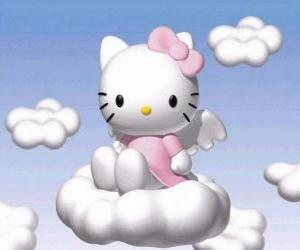 Układanka Hello Kitty latające nad chmury