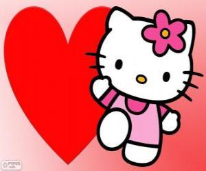 Układanka Hello Kitty o wielkim sercu
