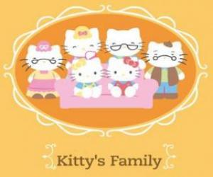 Układanka Hello Kitty rodziny