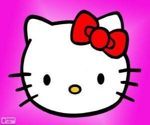 Układanka Hello Kitty szczęśliwy