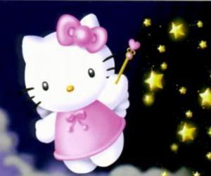 Układanka Hello Kitty to bajki wśród gwiazd