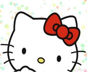 Układanka Hello Kitty twarzy