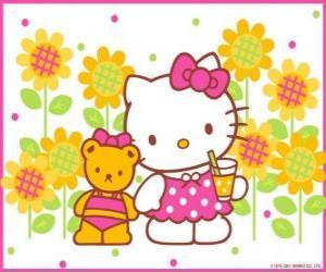 Układanka Hello Kitty z drinkiem na wsi z jej pluszowego misia Tiny Chum