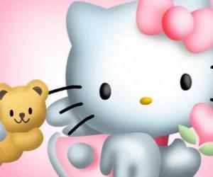Układanka Hello Kitty z nią Miś Tiny Chum