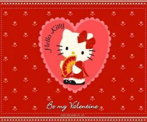Układanka Hello Kitty z serca