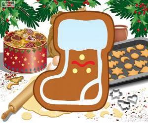 Układanka Herbatnik but Święty Mikołaj