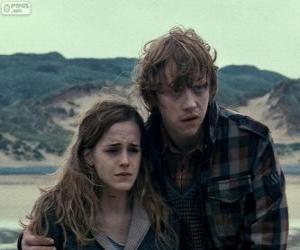 Układanka Hermiona Granger i Ron Weasle