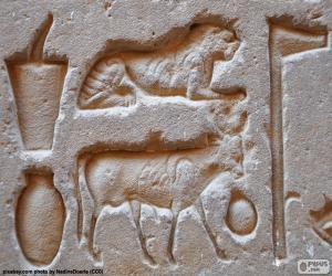 Układanka Hieroglificznego rzeźby