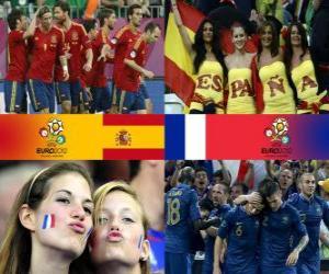Układanka Hiszpania - Francja, ćwierćfinałowe, Euro 2012