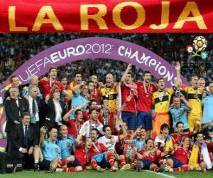 Układanka Hiszpania, UEFA EURO 2012 mistrz