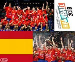 Układanka Hiszpania złoty medal mistrzostw świata w piłce ręcznej 2013