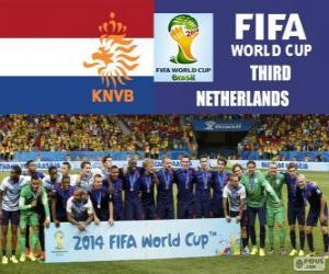 Układanka Holandia 3 klasyfikowany z Brazylia 2014 roku Puchar Świata