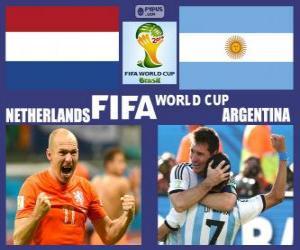 Układanka Holandia - Argentyna, półfinał, Brazylia 2014