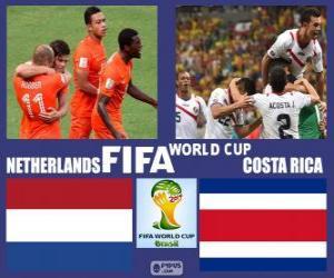 Układanka Holandia - Costa Rica, ćwierćfinały, Brazylia 2014