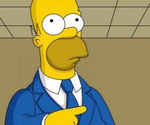 Układanka Homer Simpson bardzo eleganckie